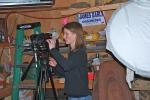Laela filming in myworkshop
